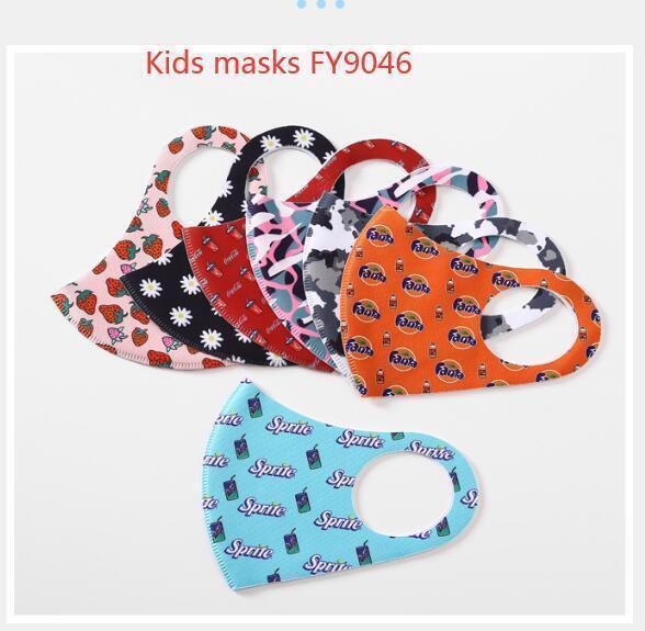 FY9047 máscaras de seda de gelo crianças