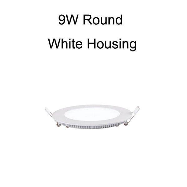 9W круглый корпус белого цвета