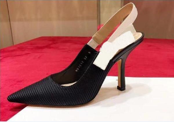 черное вязание 9.5cm каблуки