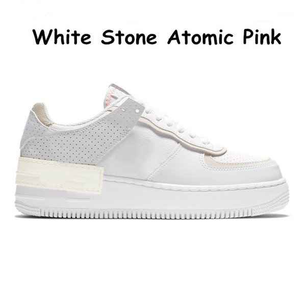 12 White Stone Atomic Pink