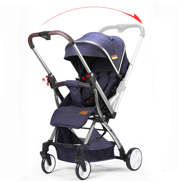 top popular UmaUbaby Baby Stroller Bidirectional Switching Light Can sit and Lie Convenient 2021