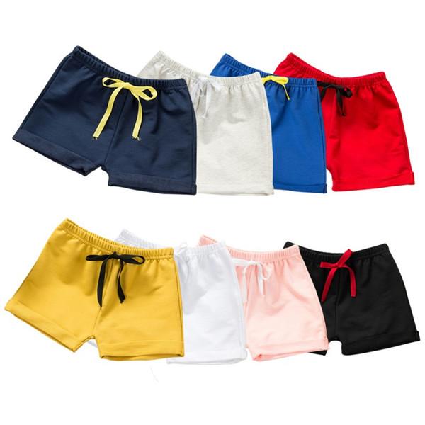top popular Summer Children Shorts Cotton Shorts For Boys Girls Brand Shorts Toddler Panties Kids Beach Short Sports Pants Baby Clothing 2021