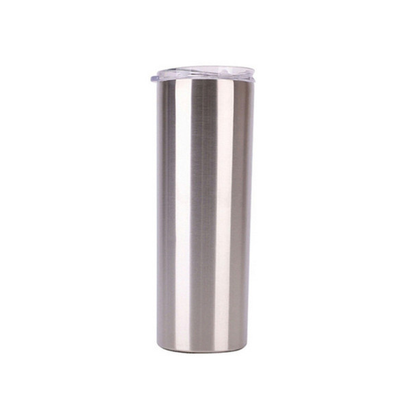 Tapered, Silver, 1Lot = 1CUP + 1LID + 1Straw