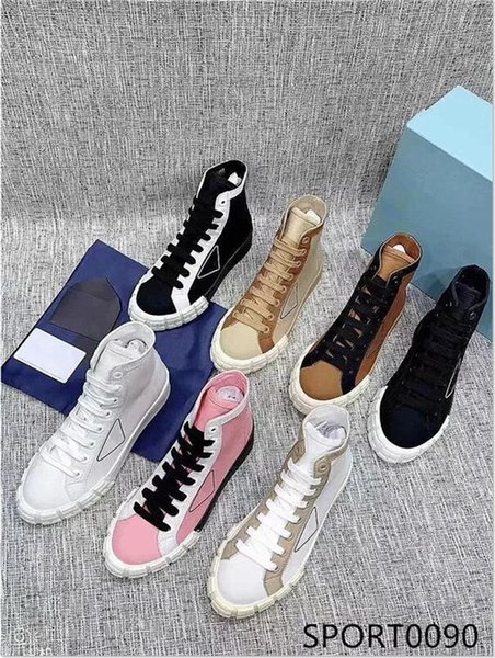 best selling Original style 20ss high-quality new Lady pink high-top canvas lace-up sneakers spring and autumn outdoor trainer running shoes with box