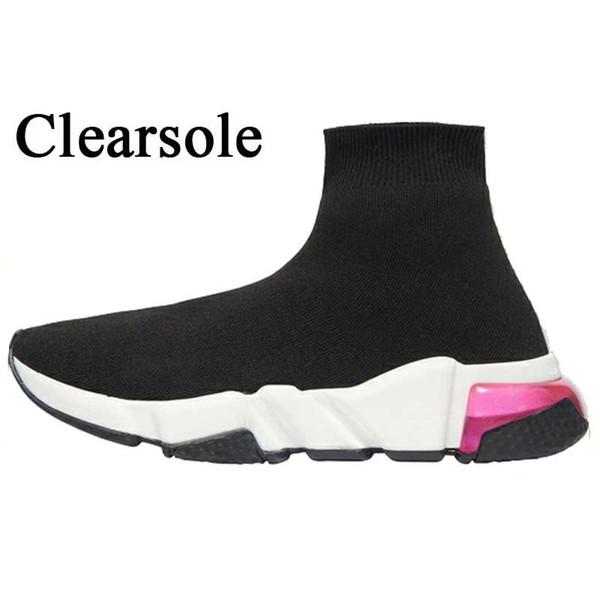 A31 Clearsole الأسود الوردي 36-40