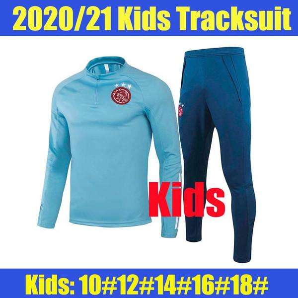 Bambini 20 21 Ajax cielo blu con Pantaloni blu