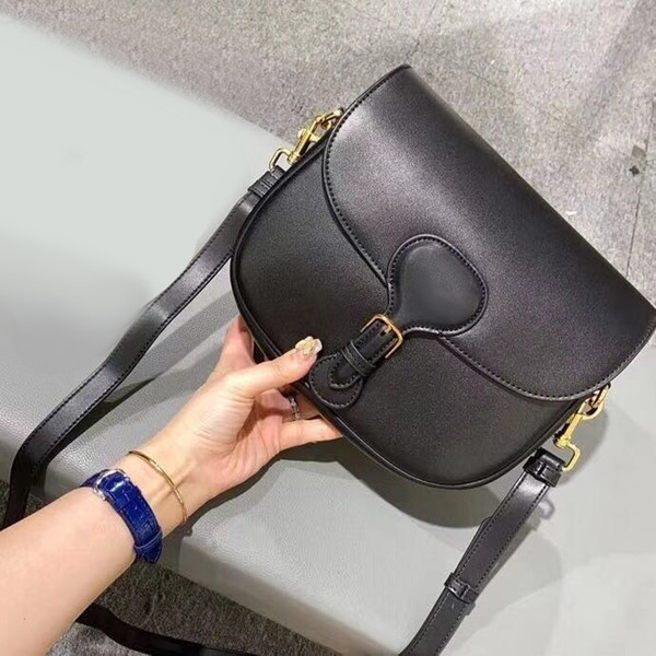 top popular 2020 Designer Luxury handbags Purses Women Shoulder bag Genuine Leather with embroidery Cross-Body Saddle Handbag High Quality Bag 0015 2020