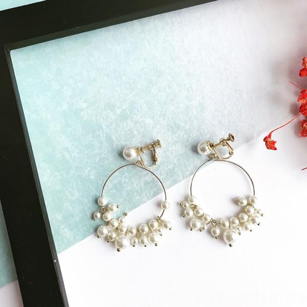Clip del oído gran círculo múltiple pequeña perla
