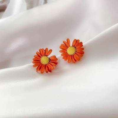Daisy Red (925 aguja de plata)