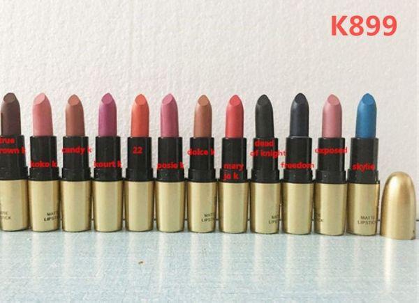 top popular Factory Direct DHL Free Shipping New Makeup Lips Hot Brand K899 Matte Lipstick!3.5g 2020