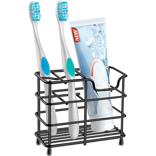 top popular Stainless steel Toothbrush Holders Multi-Functional Bathroom Toothpaste Holder Stand Home Bath Accessories will and sandy drop ship 2021