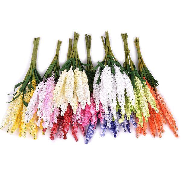 10pcs/Lot PE foam lavender Bouquet wedding home decor accessories for fake floristics vases diy wreath Artificial flowers
