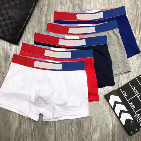 best selling Mens underwear Men's boxer briefs Pure Cotton Boxer cotton Mens breathable boxer youth pants head underpants colors Asian size Please larger