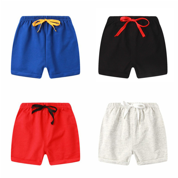 best selling Summer 1-5Y Children Shorts Cotton Shorts For Boys Girls candy color Shorts Toddler Panties Kids Beach Short Sports Pants baby