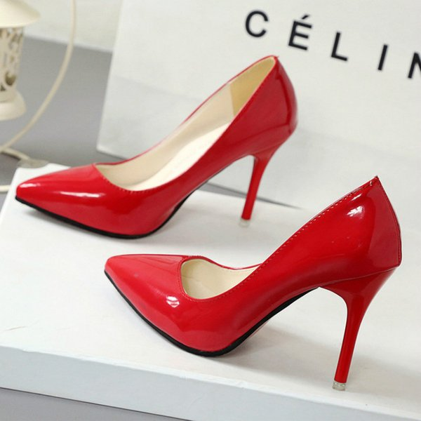 Women's Heeled Shoes Super High Heeled Shoes 2020 Spring New Pointed High Heels Fine Heel Women's Work Shoes