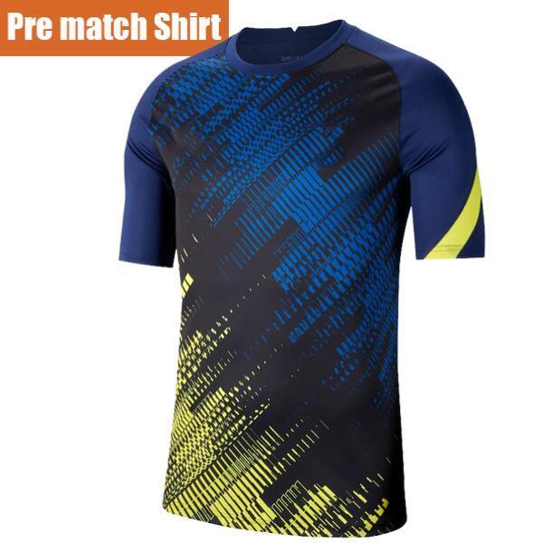 Bleu Avant match Chemise