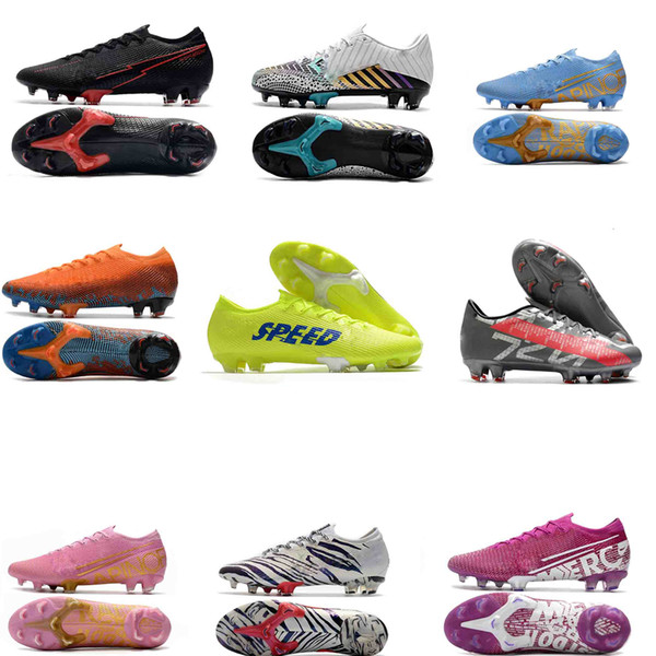 best selling Top quality Mens Football Boots Mercurial Vapores 13 Elite SG Soccer Shoes CR7 Superfly Outdoor crampons Soccer Cleats