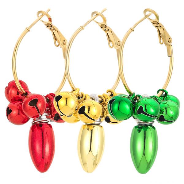 Boucles d'oreilles Cercle ampoule de Bell 3 à 1 Set