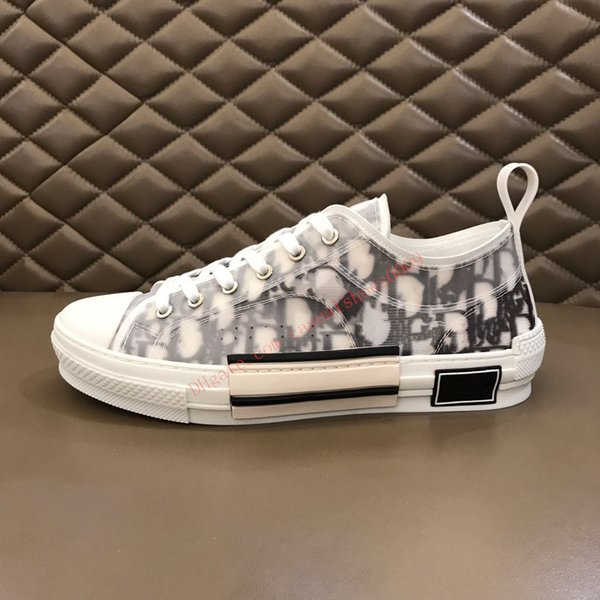 top popular 2020 B23 Oblique Low Top Sneakers Obliques Technical Leather 19SS Flowers Technical Outdoor Casual Shoes Technical Leather Luxury Shoes lts3 2020
