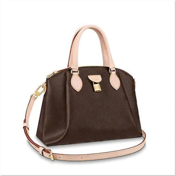 top popular Brand New 2020 Hot High Quality Genuine Leather RIVOLI BB presbyopia leather lock postman bag portable female bag handbag Shoulder Bags Box 2020