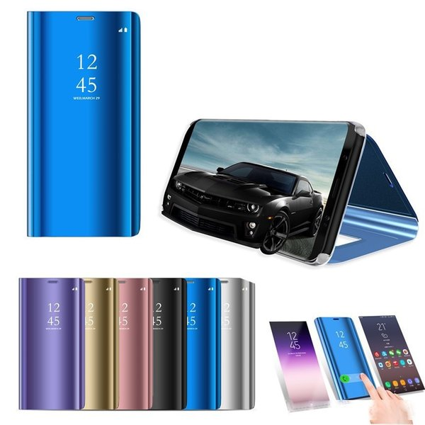 mirror plating view window case stand flip leather cover for samsung galaxy note 10 note 10 a10 a20 a30 a40 a50 a60 a70 m10 m20 120pcs