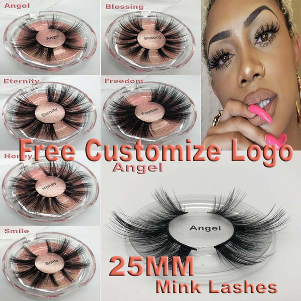 top popular Super Long 25mm 3D 5D Mink Eyelashes Dramatic Real Mink Hair Lashes 25 mm Handmade False Eyelash Eye Makeup Maquiagem 2021