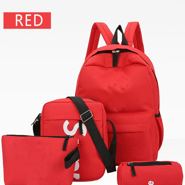 best selling Men's and women's Backpack female Korean version of the new college wind backpack campus leisure wild high school student bag