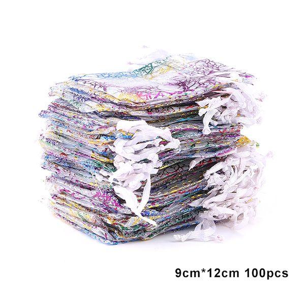100pcs 9x12-blanco