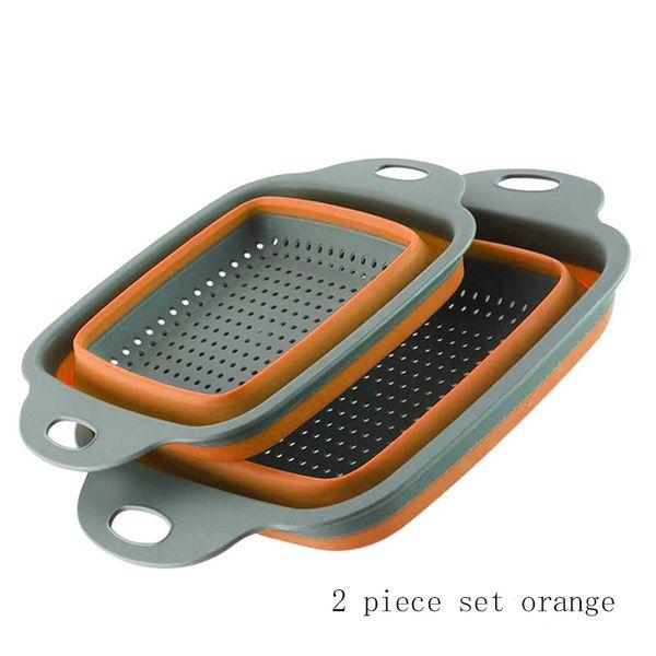 naranja 2 piezas Conjunto 1-tier