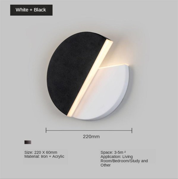 Черный 10W белый свет