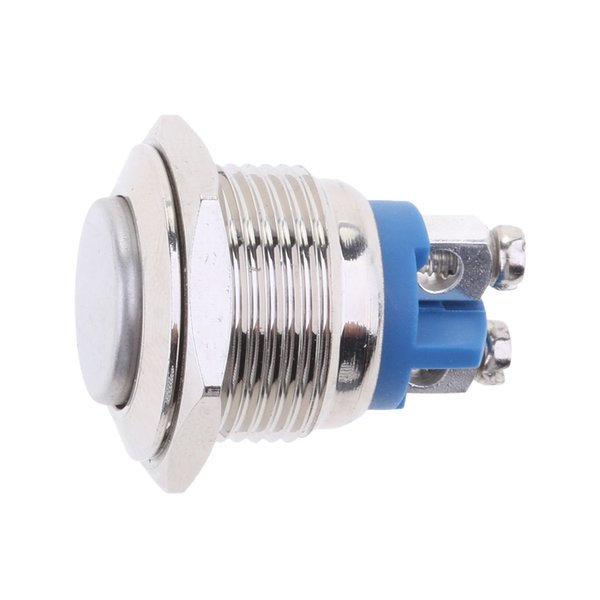 top popular New Round Steel Waterproof Push Button Switch 16mm with LED for Car Light 2021