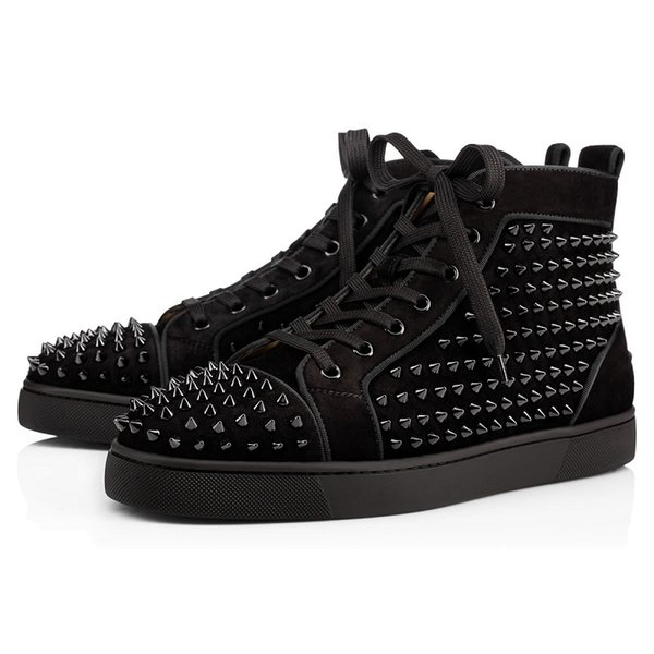 # 2 Black Suede Spike