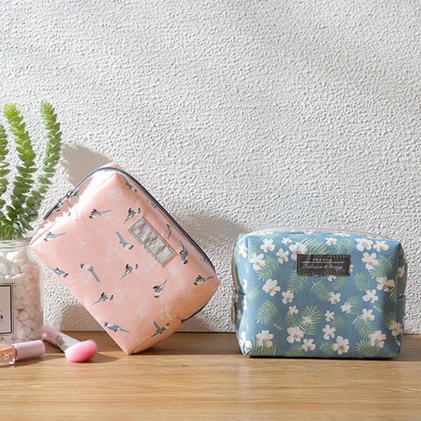 best selling High Quality Large Capacity Sweet Floral Pattern Cosmetic Bag Wash Bag Women Makeup Pouch Travel Organizer Portable Toiletry Kit
