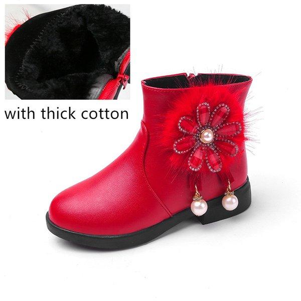 rojo con algodón