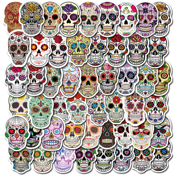 top popular Halloween 50PCS Vinyl Stickers Bomb Horror Doodle Car Decals Waterproof for DIY Laptop Skateboard Bicycle Motorbike Decoration Gifts 2021