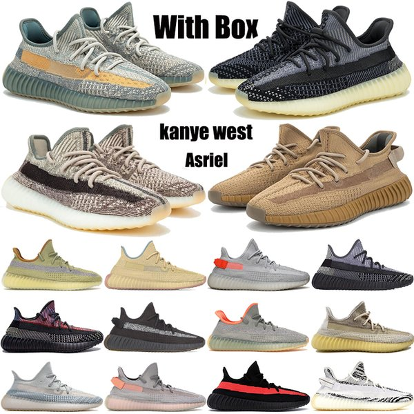 best selling Asriel Abez Cinder Earth Kanye West Reflective casual shoes Marsh Desert Sage Tail Light Linen zyon flax men women trainers sneakers
