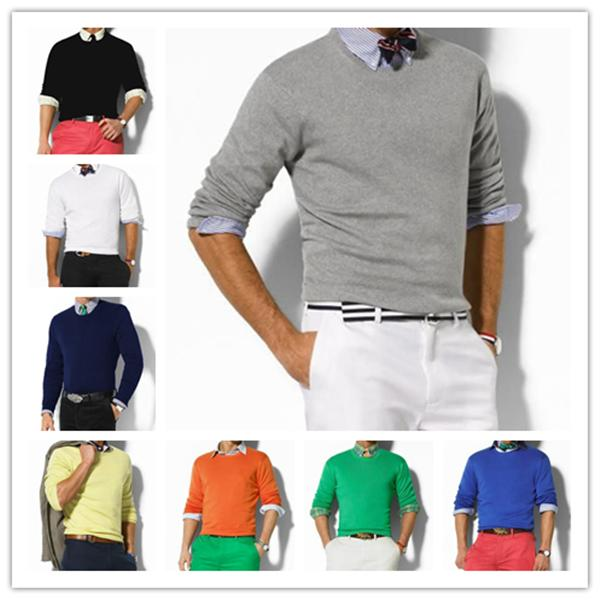 top popular Free shipping new high quality polo men's twist sweater knit cotton sport sweater jumper pullover sweatshirt Embroidery Small horse game 2020