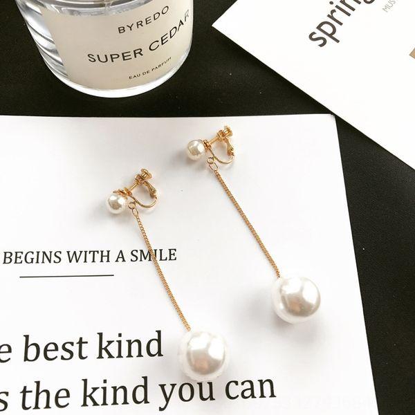 Clip del oído sin etiqueta oro de la perla 1