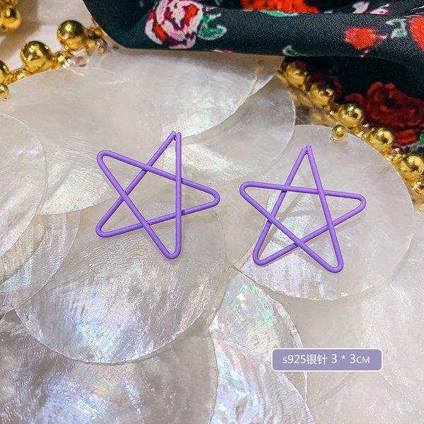 A4282 estrella de cinco puntas aguja de plata