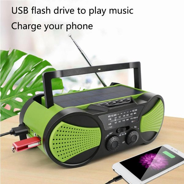 best selling Digital Weather Radio Power Bank Music Player Camping Travel Hand Crank Outdoor Emergency Portable Multifunctional Solar Powered