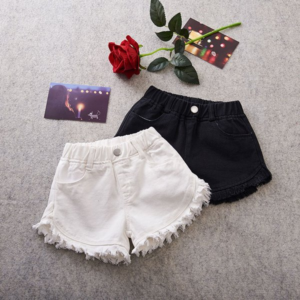 top popular Girls Shorts Summer Children's Shorts For Kids tassels Trousers Casual Scanties Beach Shorts Baby Girl Clothes 2021