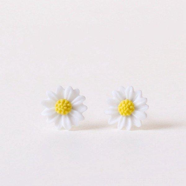 Pequeno # Branco Huang Rui Crisântemo Ear