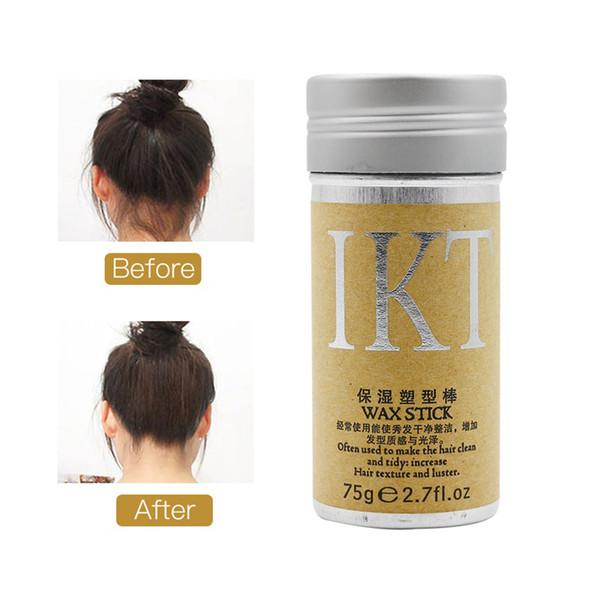 best selling Moisturizing Hair Finishing Wax Stick Increase Hair Style Pomade Stick Not Greasy Hair Shaping Cream Finishing Wax Stick 0128