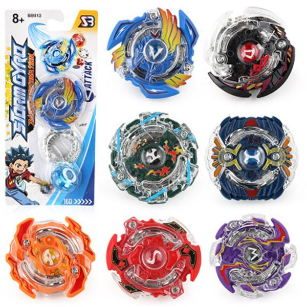top popular New Toupie Beyblade Burst Beyblades Metal Fusion with Color Box Gyro Desk Top Game For Children Gift BB812 Without Launcher 2020