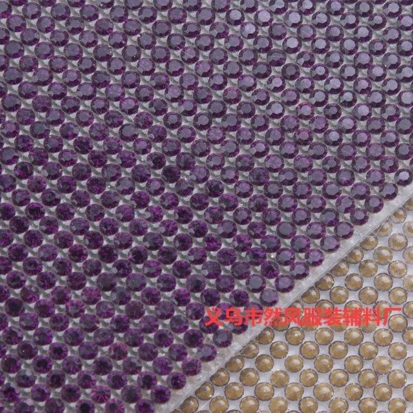Deep Purple Rhinestone 2 mm 24x40-Ss6-2mm