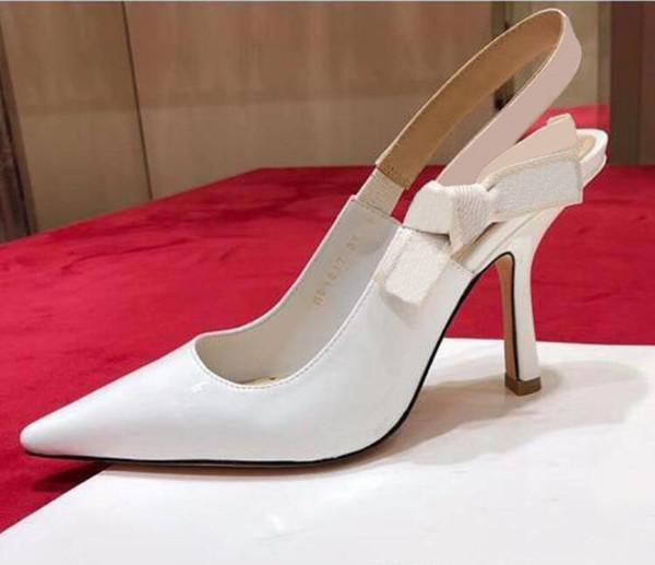 белые блестящие каблуки 9.5cm