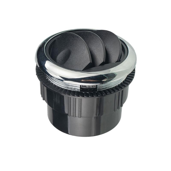 best selling ABS Dashboard Modified Boat Yacht Universal Durable 87mm Air Conditioning Outlet Round Vent Ventilation Black RV Bus Accessories