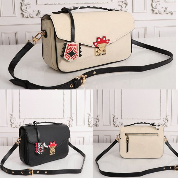 top popular 2020 CRAFTY POCHETTE MÉTIS Embossed Leather Extra-large Print Letters Braided Top Handle Graffiti Inspired Charm Shoulder messenger 6K8m# 2020