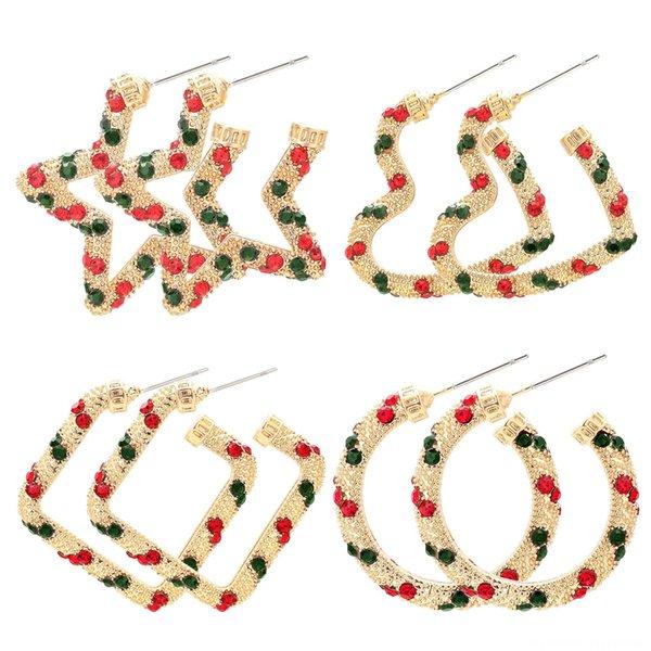 Noël rouge et vert strass 4