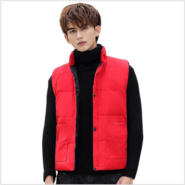 best selling Winter men's warm solid down vest sleeveless down jacket Classic Feather Weskit Jackets Casual bodywarmer Vests Coat Puffer Doudoune Homme